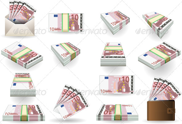 GraphicRiver Full Set of Ten Euros Banknotes 5063845