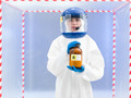 Person in a biohazard suit with a toxic substance - PhotoDune Item for Sale