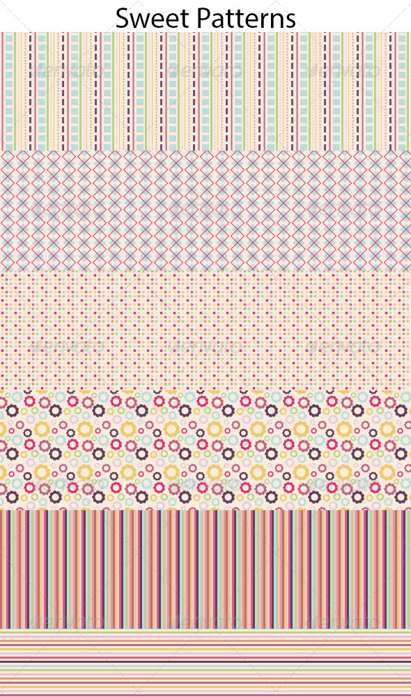 GraphicRiver Sweet Patterns 5063888
