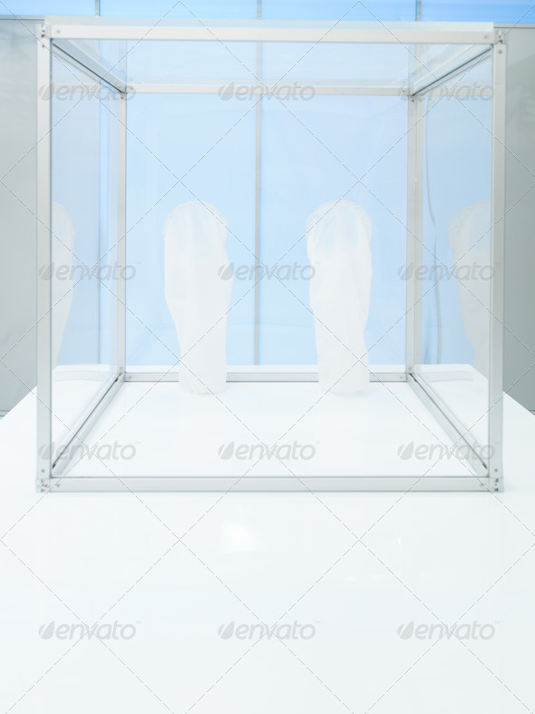 sterile chamber inside a lab - Stock Photo - Images