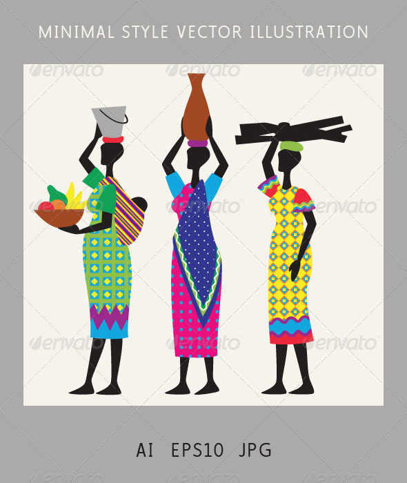GraphicRiver Women from Africa Walking 5064762
