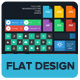 UI Kit - Flat Design - GraphicRiver Item for Sale