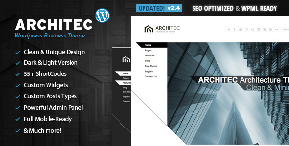 Architec - Architecture Wordpress Theme - Corporate WordPress