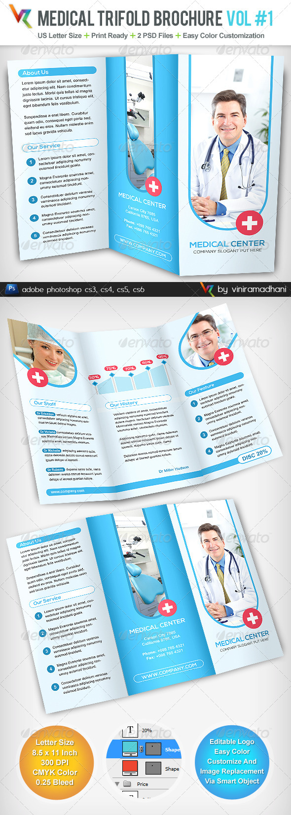 GraphicRiver Medical TriFold Brochure 5065215