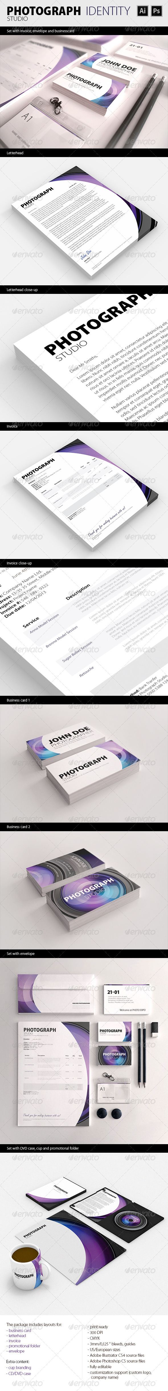GraphicRiver PhotoGraph Studio Corporate Identity 4999549