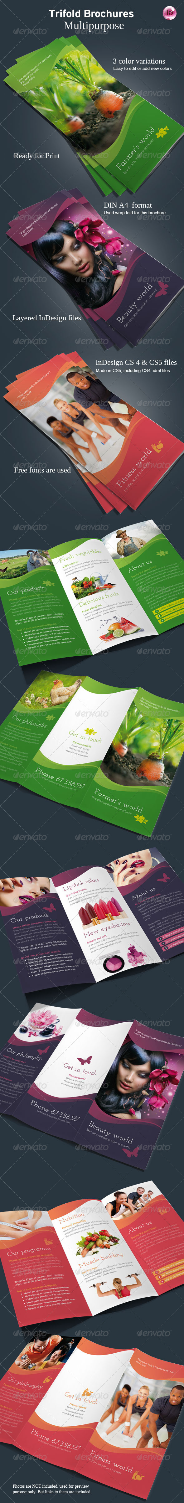 GraphicRiver Multipurpose Trifold Brochures 5065269