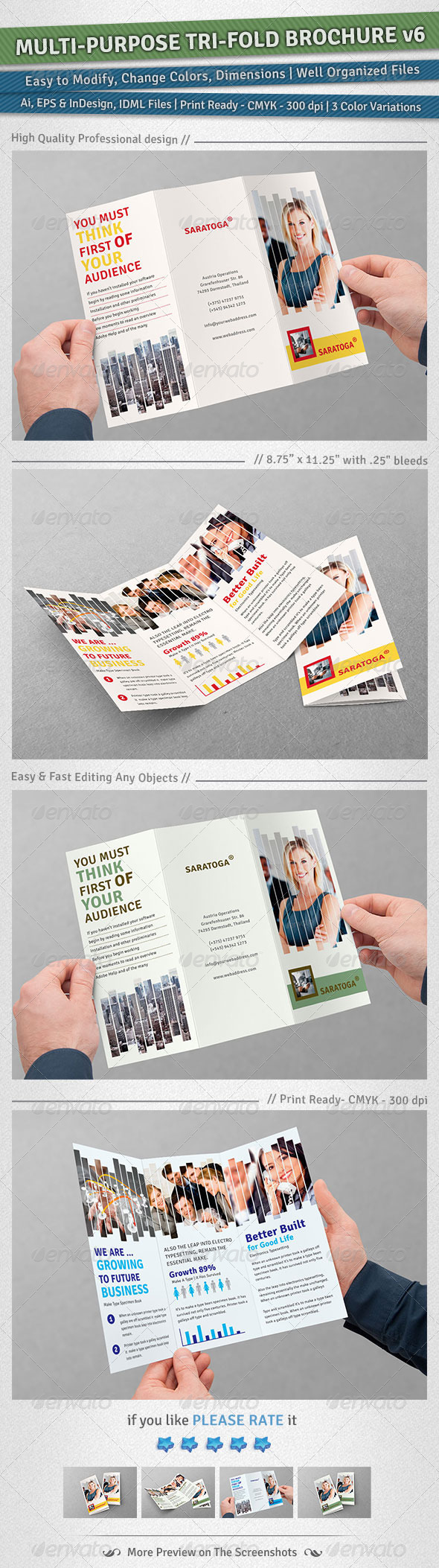 GraphicRiver Multi-purpose Tri-Fold Brochure Volume 6 5065410