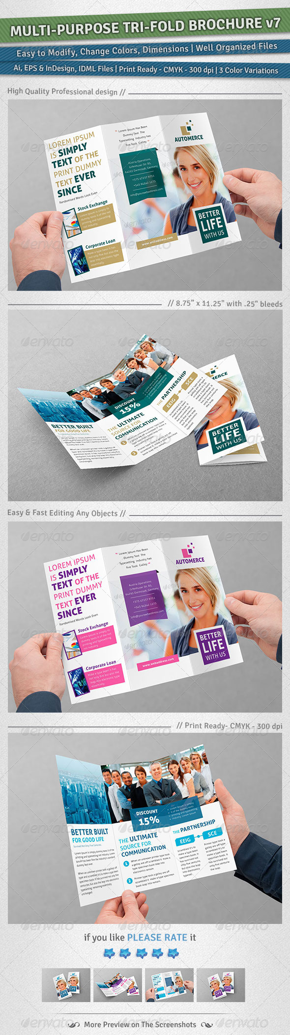 GraphicRiver Multi-purpose Tri-Fold Brochure Volume 7 5066301