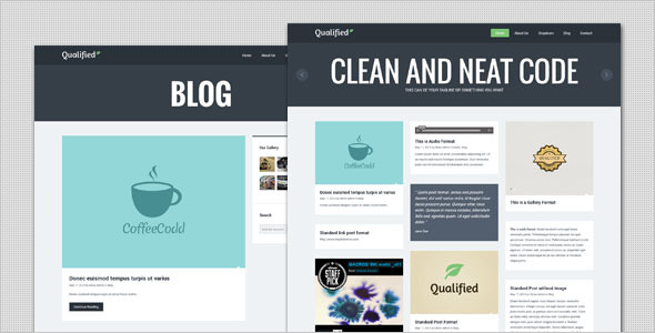 Qualified - Blog and Portfolio WordPress Theme