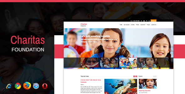 ThemeForest Charitas Foundation HTML Template 5062349
