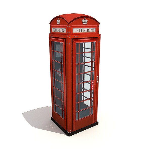 3DOcean British Phone Booth 5068455