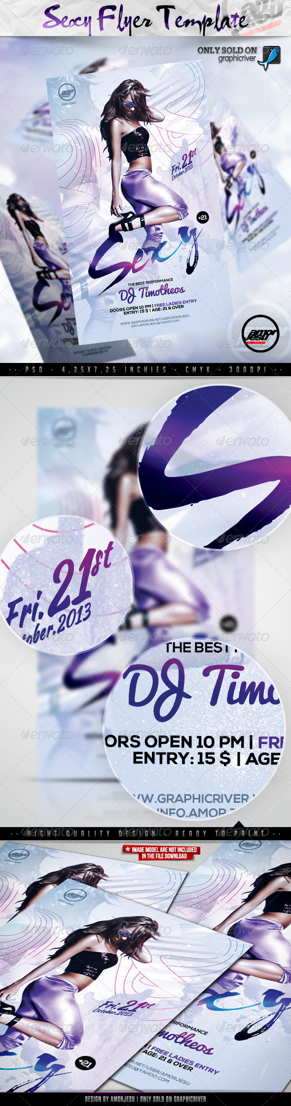Sexy Flyer Template - Clubs & Parties Events
