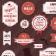 Vintage Set of Vector Stickers and Ribbons  - GraphicRiver Item for Sale