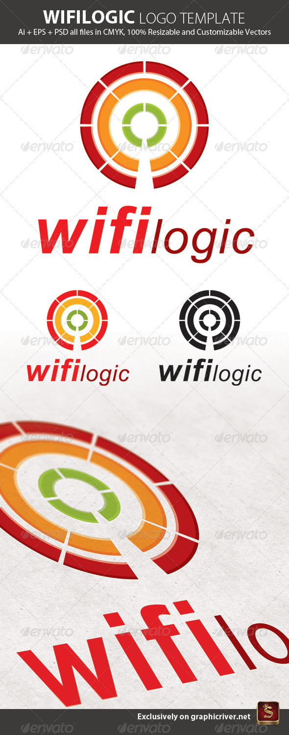 Wifilogic Logo Template - Abstract Logo Templates
