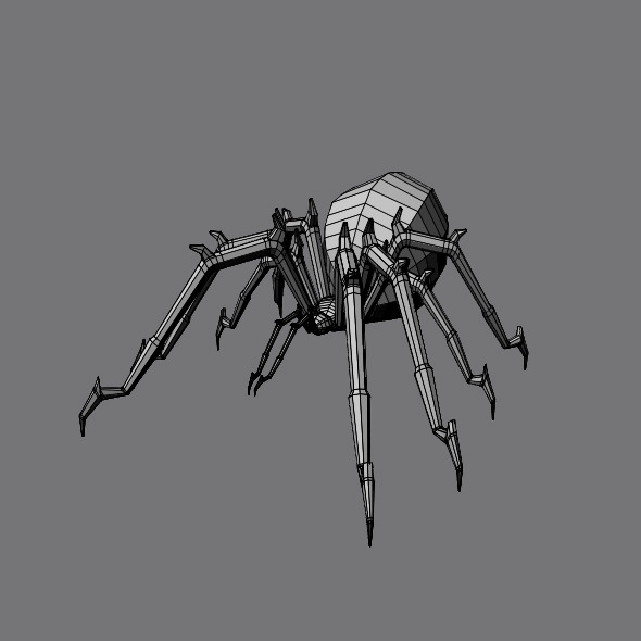 3DOcean Spider Base Mesh 5069458