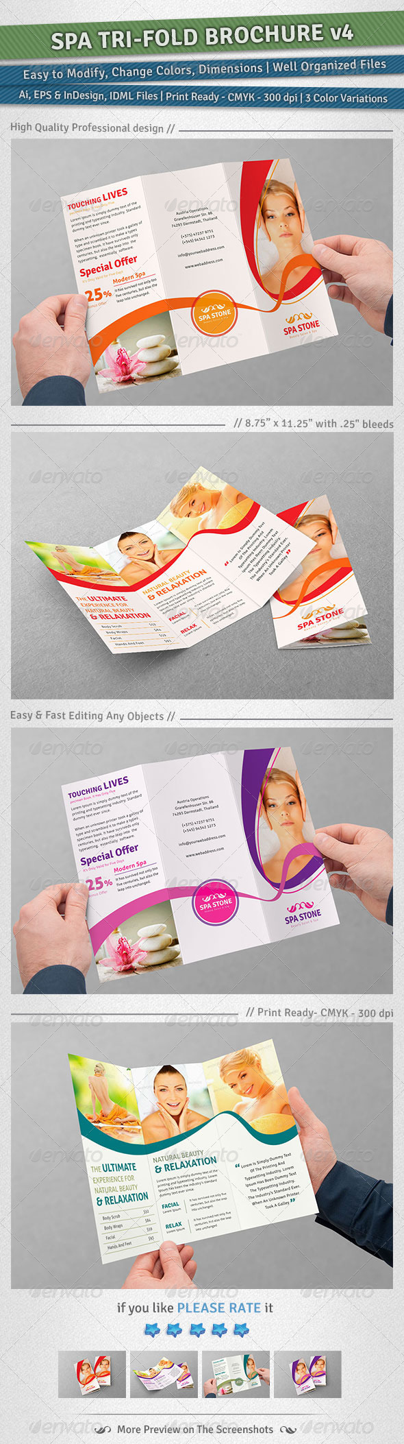 GraphicRiver Spa Tri-Fold Brochure Volume 4 5069953