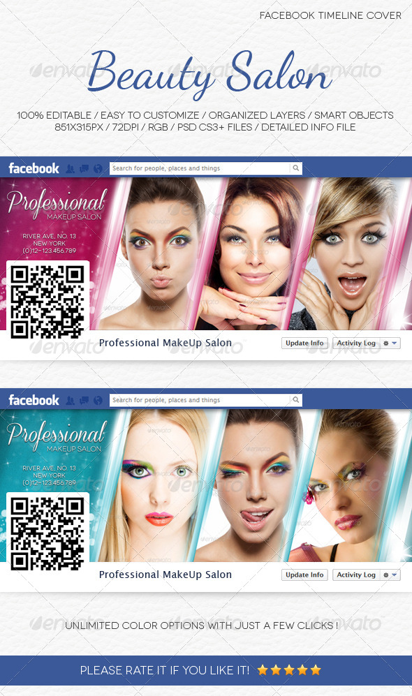 GraphicRiver Beauty Salon Facebook Timeline Cover 5071517