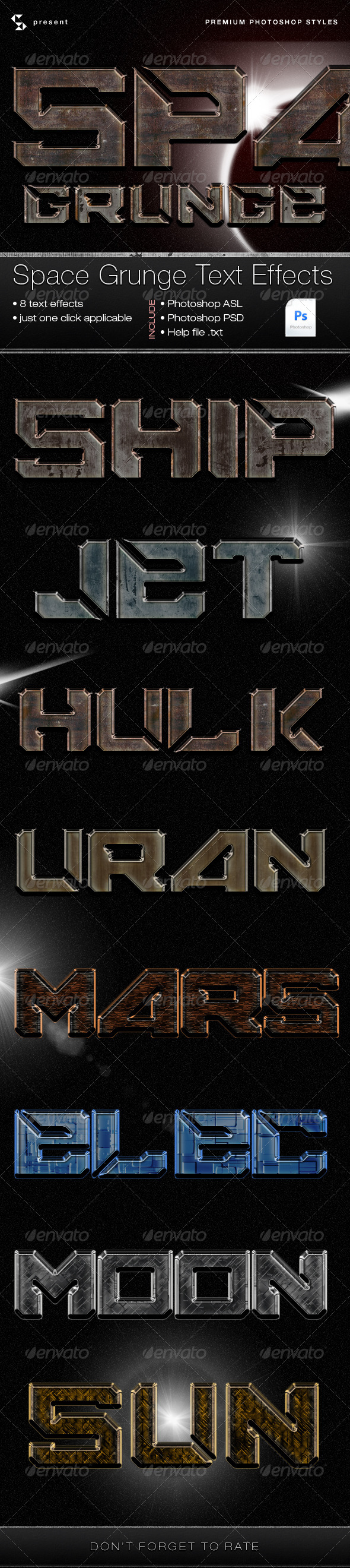 GraphicRiver Space Grunge Text Effects 5071587