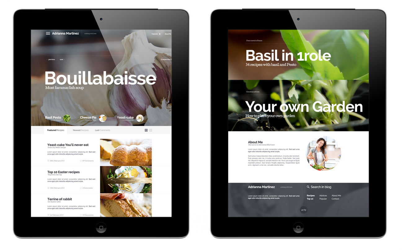 Cooking blog template