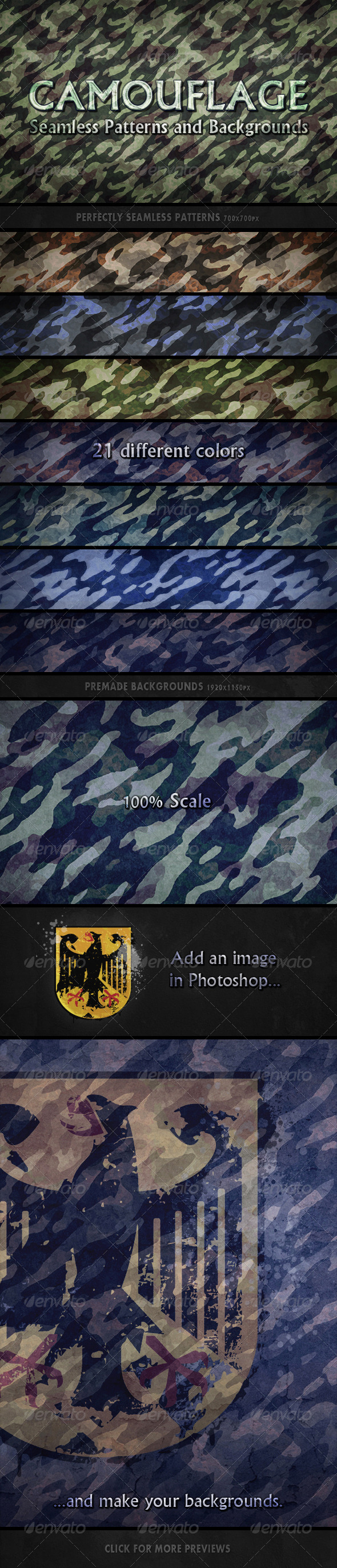 Camouflage Seamless Patterns - Patterns Backgrounds