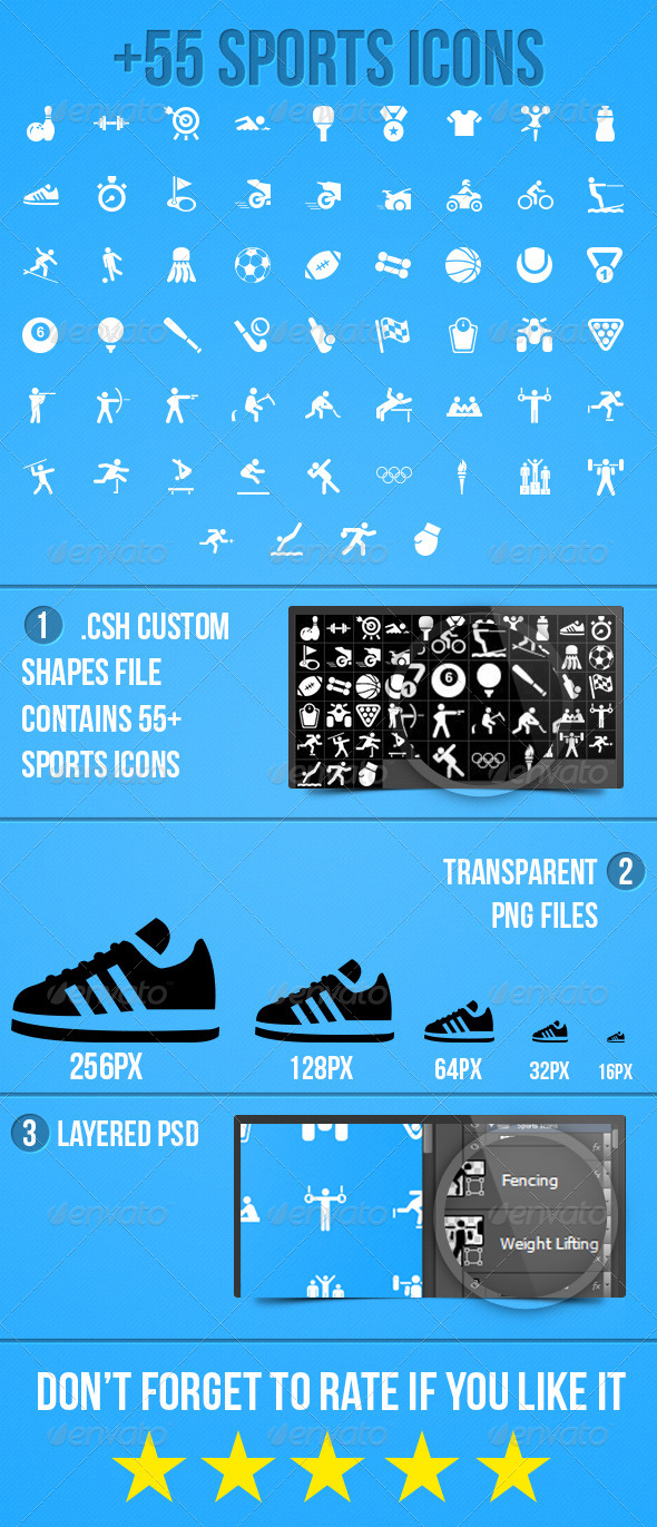 GraphicRiver Sports Icons 5073702