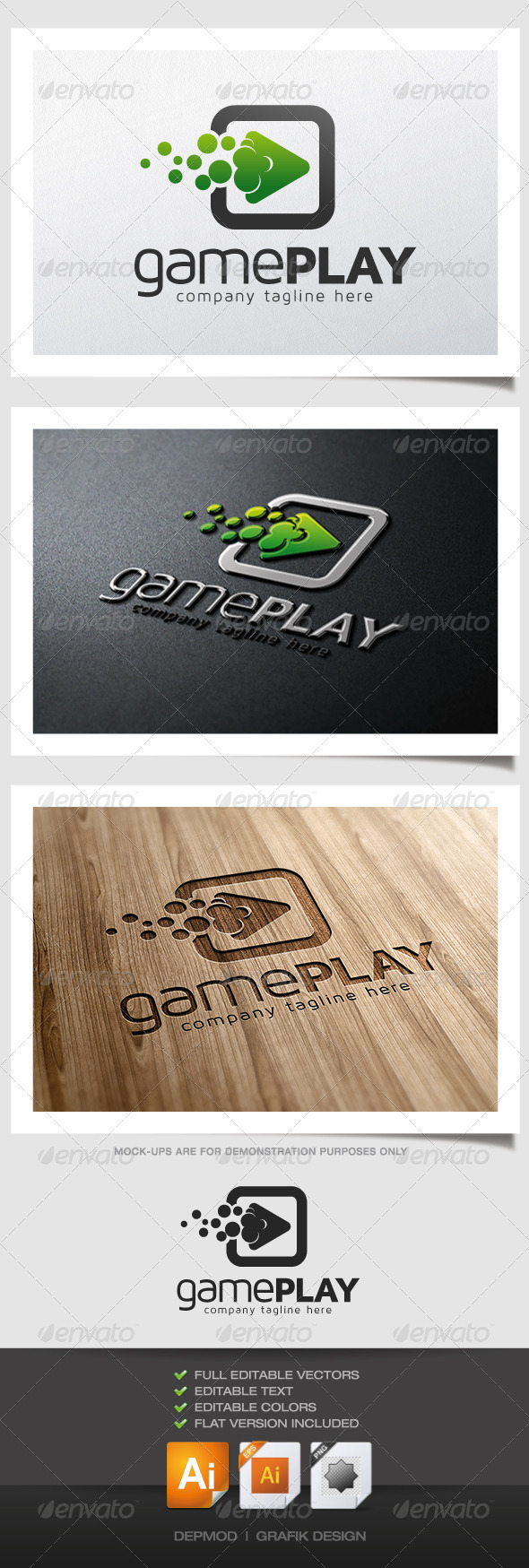 Game Play Logo - Symbols Logo Templates