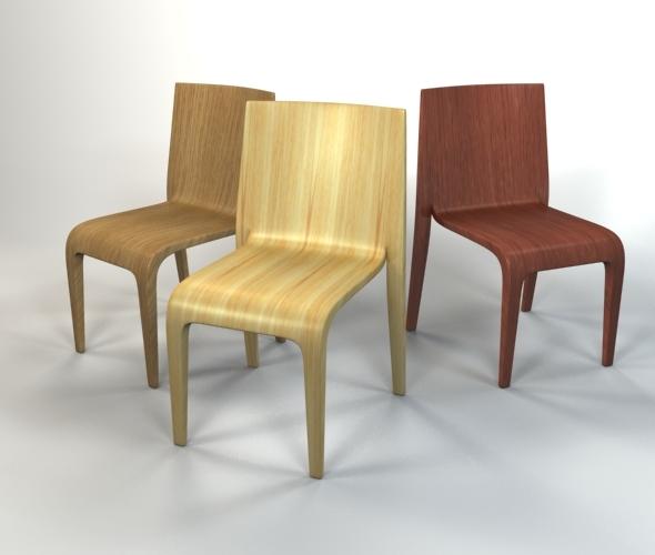 3DOcean Wooden Chair 5073842