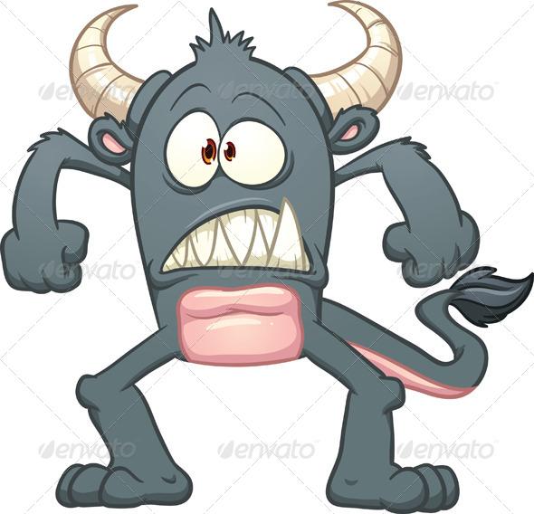 GraphicRiver Cartoon Black Monster 5074006