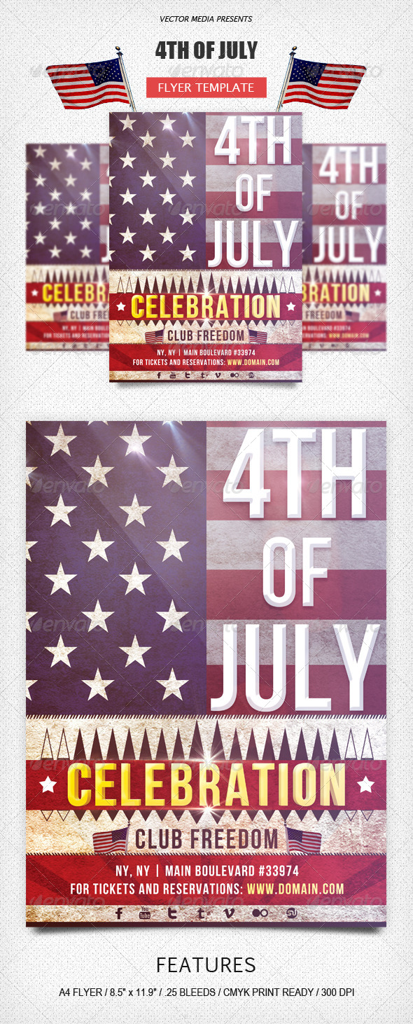 GraphicRiver 4TH of July Flyer 5014984