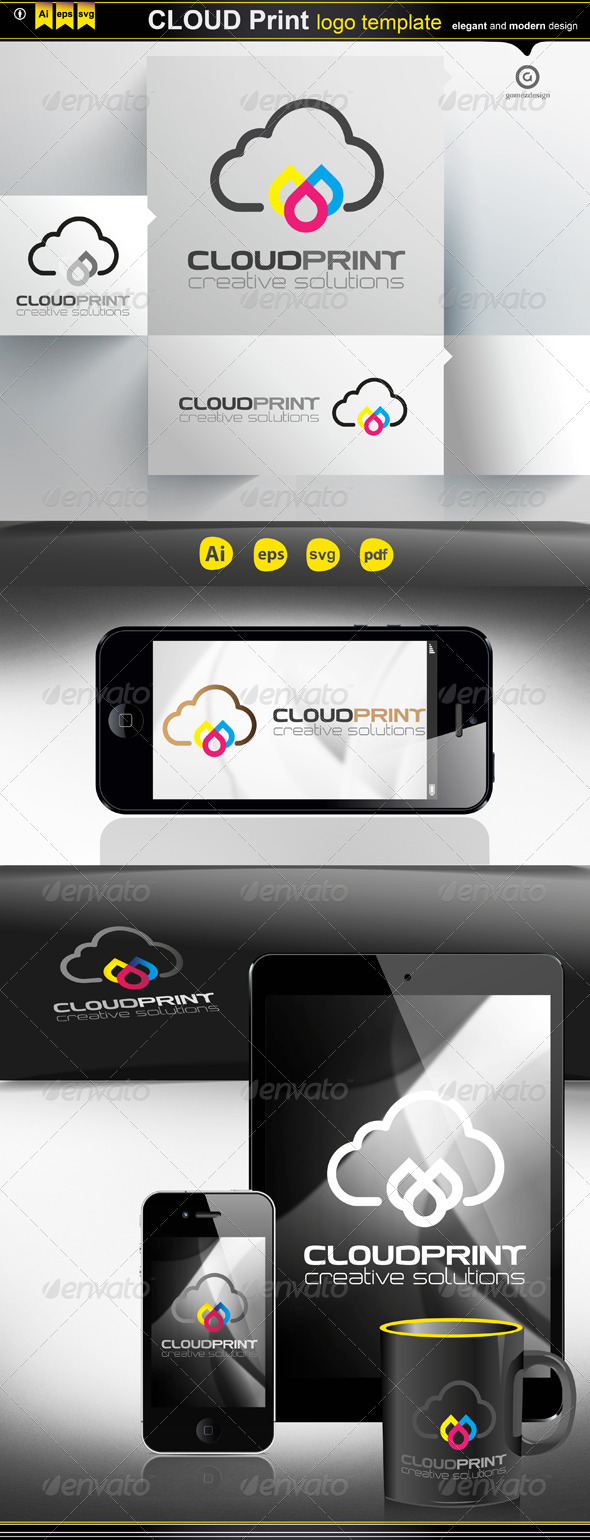 Cloud Print - Logo Templates