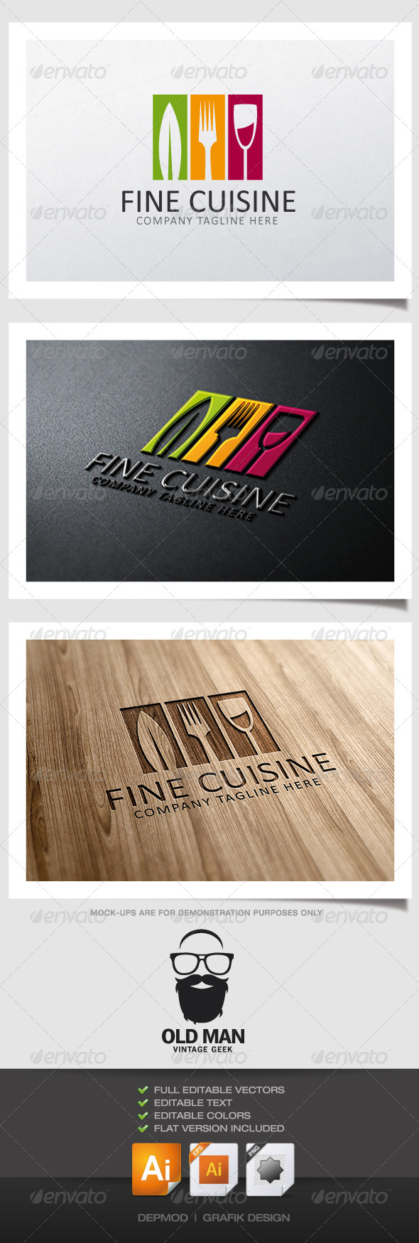 GraphicRiver Fine Cuisine Logo 5074377