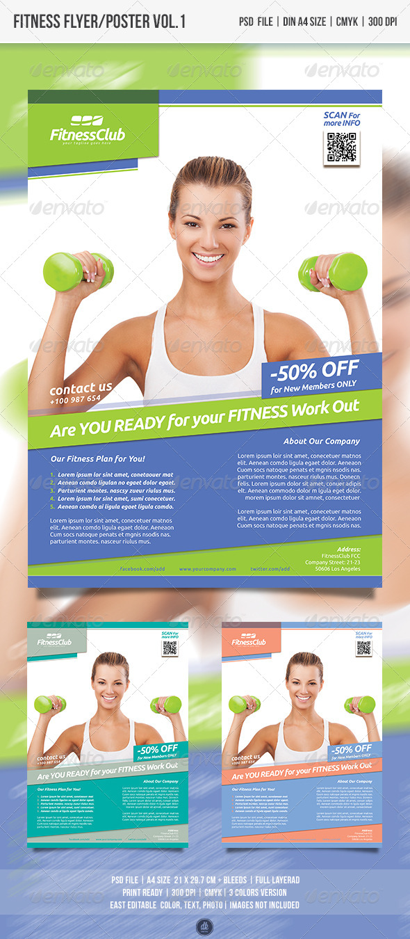 GraphicRiver Fitness Flyer Poster Vol.1 5016346