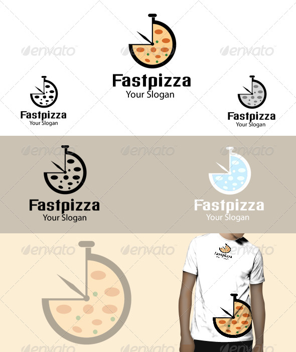 GraphicRiver Fast Pizza Logo 5075325