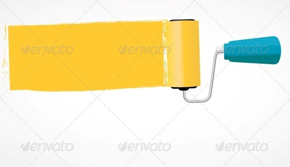 GraphicRiver Paint Roll Icon Vector Illustration 5075671