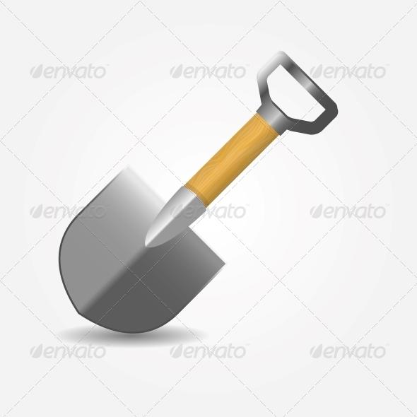 GraphicRiver Shovel Icon Vector Illustration 5075696
