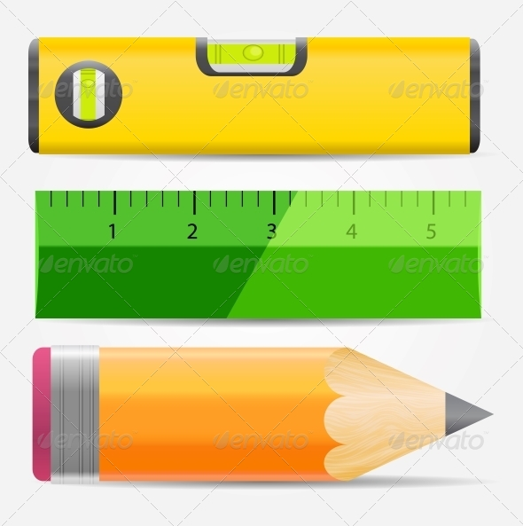 GraphicRiver Pencil Level and Ruler Icon Vector Illustration 5075723