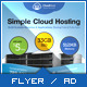 Cloud Hosting Service - A4 Flyer Template - GraphicRiver Item for Sale