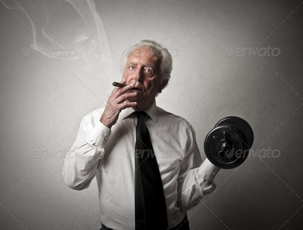 fit senior man - Stock Photo - Images