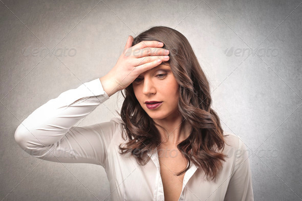 severe headache - Stock Photo - Images