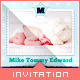 Flying Dream - Baby Announcement Card - GraphicRiver Item for Sale