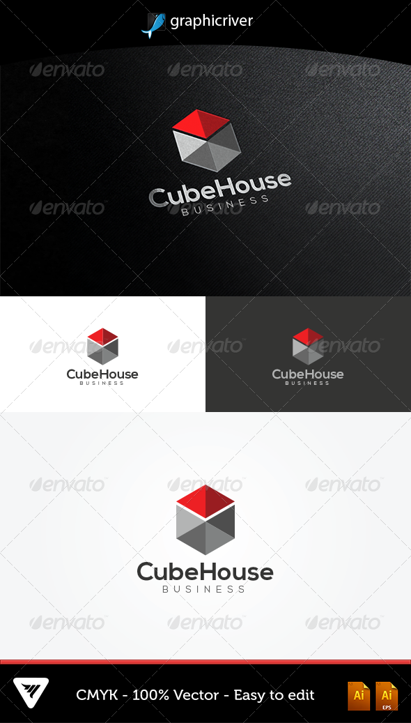 GraphicRiver CubeHouse Logo 5075821