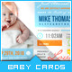 Baby Pictograph - Baby Announcement Card - GraphicRiver Item for Sale