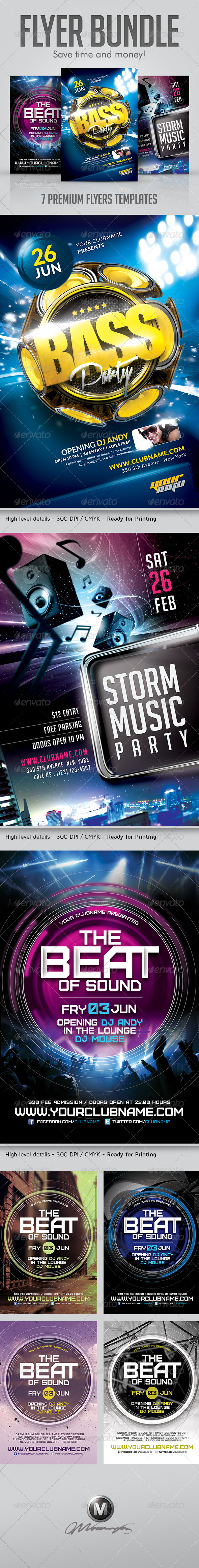 Club Party Flyer Bundle - Events Flyers