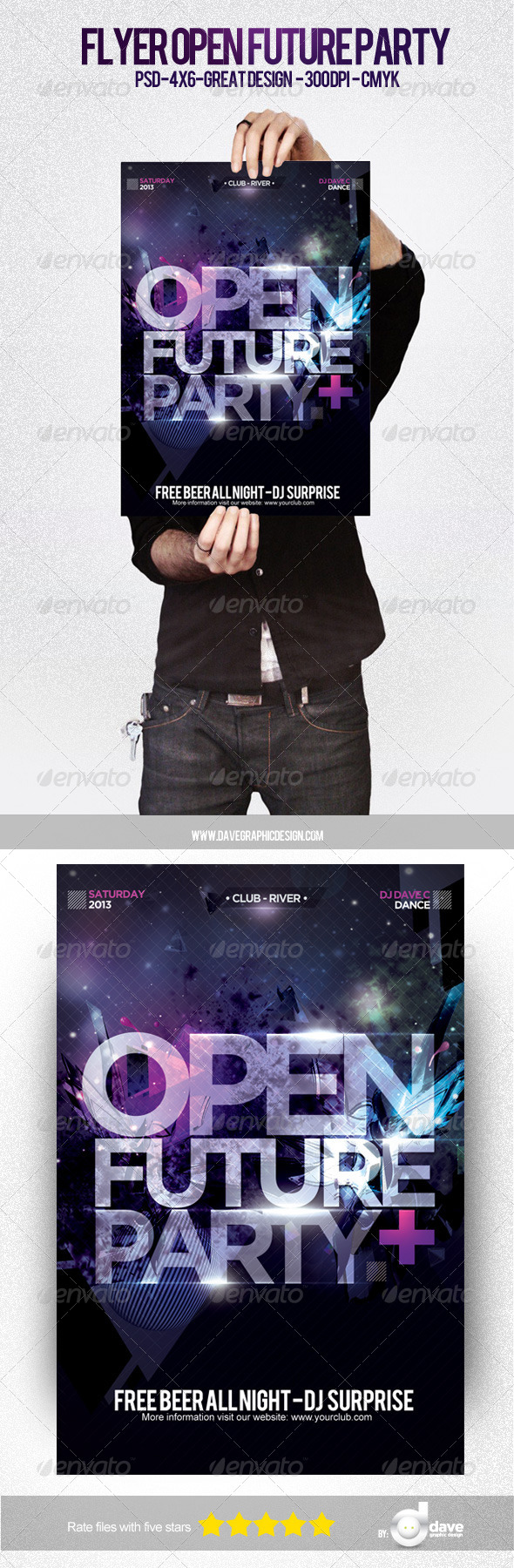 GraphicRiver Flyer Open Future Party 5076407