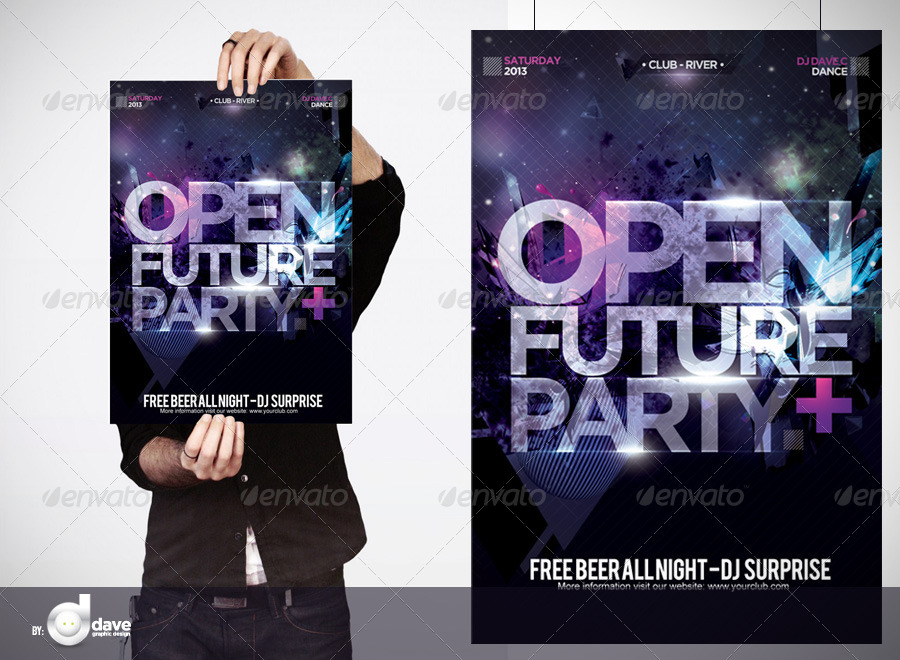 Flyer Open Future Party