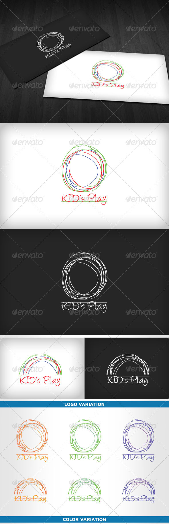 KID's Play - Children Activities Logo - Humans Logo Templates
