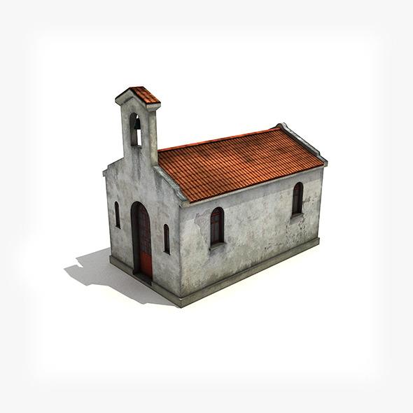 3DOcean Small Church Building 5078239