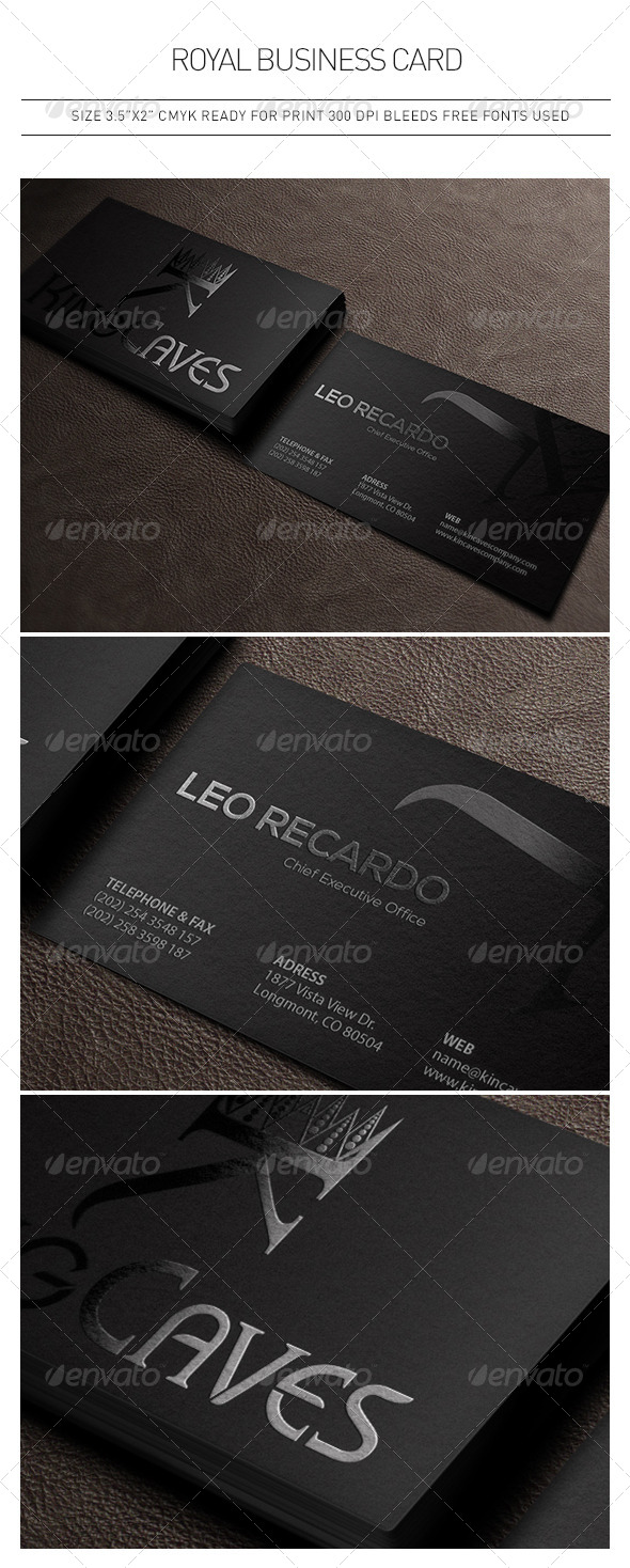 Royal Business Card - Corporate Business Cards