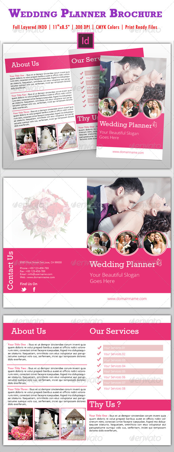 GraphicRiver Wedding Planner Brochure 5027342