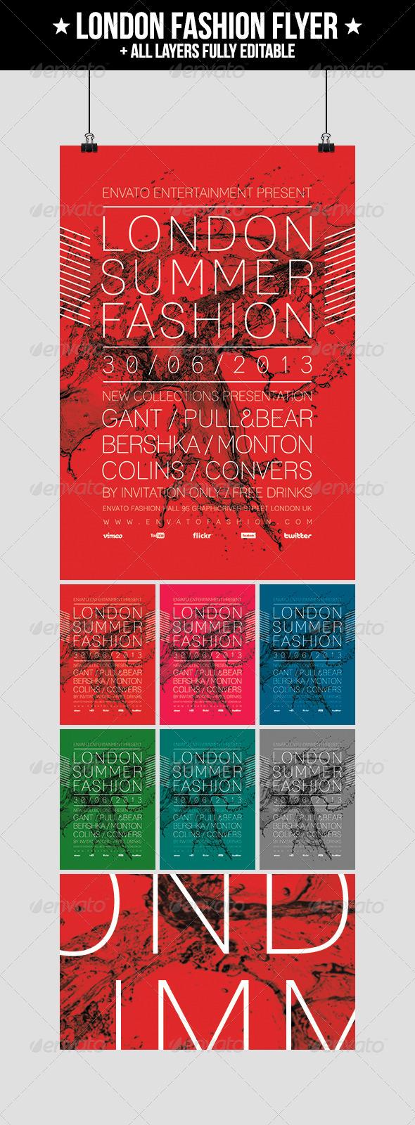 GraphicRiver London Fashion Flyer 5079912